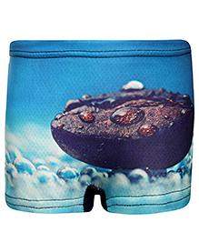 Bosky Swimwear Graphic Print Trunk - Sky Blue