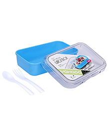 Lunch Box With Spoon And Fork - Blue