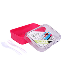 Lunch Box With Spoon And Fork - Pink