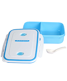 Airtight Microwave Lunch Box - Blue And White