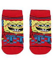 Spongebob Character Print Socks - Red