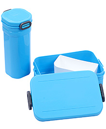 Lunch Box And Water Bottle Set 500 Ml - Blue