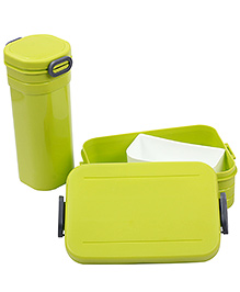 Lunch Box And Water Bottle Set 500 Ml - Green