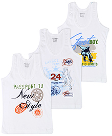 Cucumber Sleeveless Vests Multiprint - White
