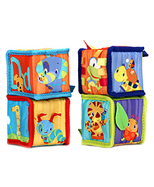 Bright Starts Grab And Stack Blocks Pack of 4 - Multi Color