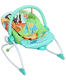 Bright Starts Peek A Zoo 3 In 1 Rocker - Green
