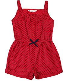 Beebay Jumpsuit Heart Print - Red