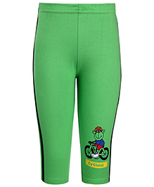 Tango Track Pants Cycling Monkey Print - Green