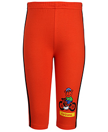 Tango Track Pants Cycling Monkey Print - Red