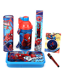 Spider Man School Kit Pack Of 6 - Red And Blue