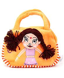 Dimpy Stuff Chutki Hand Bag Orange - 8 Inches