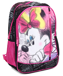 Mickey Mouse And Friends School Bag 18 Inches - Black And Pink