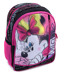 Mickey Mouse And Friends School Bag 16 Inches - Black And Pink