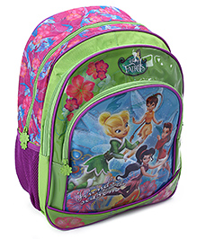 Disney Fairies School Bag 16 Inches - Pink And Green