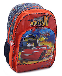 Disney Pixar Cars School Bag 16 Inches - Orange And Navy Blue