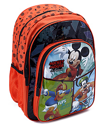 Mickey Mouse And Friends School Bag 16 Inches - Orange
