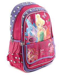 Disney Fairies School Bag 19 Inches - Pink And Purple