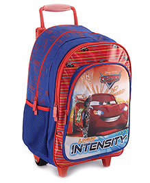 Disney Pixar Cars Trolley School Bag 16 Inches - Blue And Red