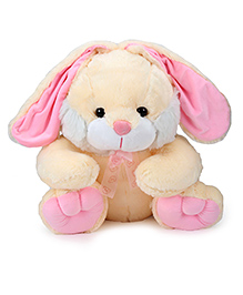 Dimpy Stuff Bunny With Ribbon Soft Toy Cream - 48 cm