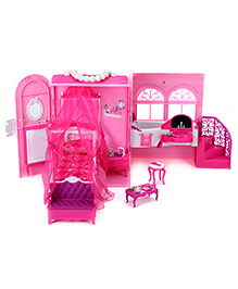 Barbie Bedroom And Bathroom Set - Pink