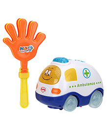 Mitashi Clap And Zoom Ambulance Vehicle - White