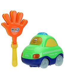 Mitashi Clap And Zoom Vehicle Police Car - Green