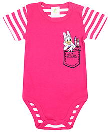 Disney Baby Half Sleeves Onesies Daisy Duck Print - Fuchsia Pink