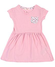Fox Short Sleeves Frock - Pink