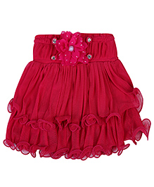Babyhug Skort Pink - Skirt With Attached Shorts