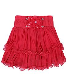 Babyhug Skort Red - Skirt With Attached Shorts