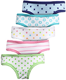 Babyhug Panties Set Of 5 - Multicolour