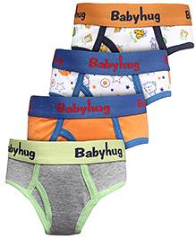 Babyhug Briefs Set Of 4 - Multicolour