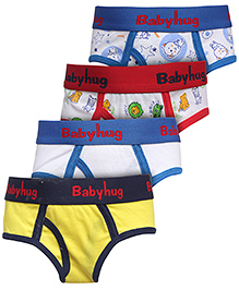 Babyhug Briefs Set Of 4 - Multicolour