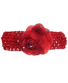 Stoln Crochet Pattern Headband Rose Applique - Red