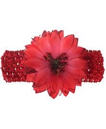 Stoln Crochet Pattern Headband Floral Applique - Red