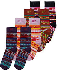 Hush Puppies Printed Socks - Set Of 4