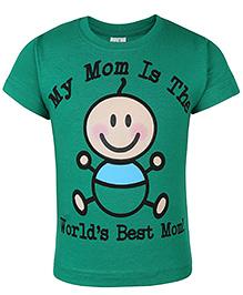 Babyhug Half Sleeves T-Shirt Caption Print - Green