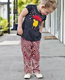 Pinehill Full Length Printed Harem Pant - Multicolour