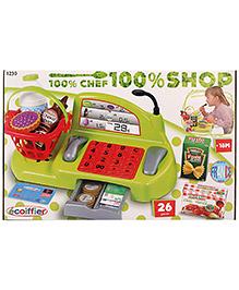 Ecoiffier 100 Percent Shop Bubble Cook Cash Register - 26 Pieces