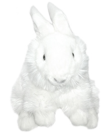 Soft Buddies Rabbit Soft Toy White - Height 10 Inches