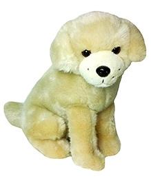 Soft Buddies Premium Puppy Sitting Beige - Height 11 Inches