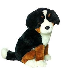 Soft Buddies Premium Puppy Sitting Black And Brown - Height 11 Inches