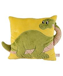 Soft Buddies Cushion Loop Playtoy Dinosaur - Yellow And Green