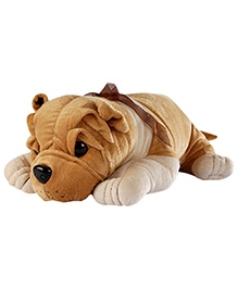 Soft Buddies Lying Bull Dog Soft Toy Light Brown - Height 2 Inches