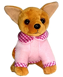 Soft Buddies Chi Hua Hua Dog Soft Toy Brown - Height 7 Inches