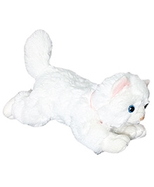 Soft Buddies Lying Cat Soft Toy White - Small