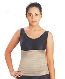 Cling Breath Post Maternity Corset Light Brown - XXLarge