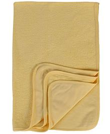 Child World Bath Towel Fish Print - Yellow