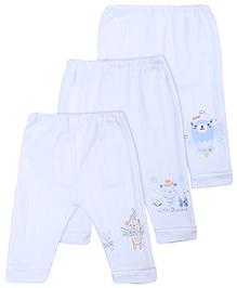 Zero Legging Multi Print Set Of 3 - White