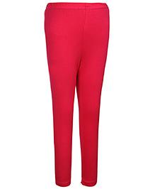 Simply Full Length Leggings - Dark Pink